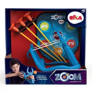 Novo Brinquedo Arco e Flecha Zoom Lançador e Alvo Elka 1043