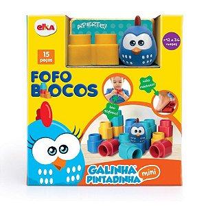 Blocos de Encaixe Fofo Blocos Galinha Pintadinha Elka 1047