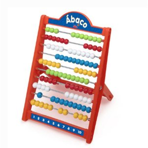Novo Brinquedo Escolar Ábaco 100 Unidades Elka 512