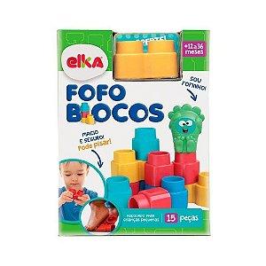 Brinquedo Blocos de Encaixe Fofo Blocos 15 peças Elka 1010