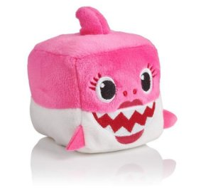Pelucia Musical Baby Shark Mommy Cubo Rosa Toyng 39258