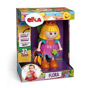 Boneca Flora Fadinha De Atividades Com 12 Frases Elka 750