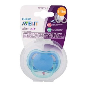 Chupeta Avent Ultra Air Azul Single 6-18 Meses 5208
