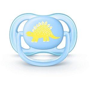 Chupeta Avent Ultra Air Azul De Dinossauro Single 0-6 meses