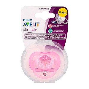 Chupeta Avent Ultra Air Arvore Rosa  Single 0-6 Meses 5211