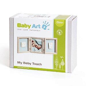 Porta Retrato De Madeira Molde Duplo Baby Art Stormy 0173