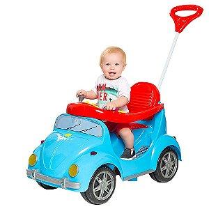 Novo Carrinho De Passeio Ou Pedal Fusca Azul 1300 Calesita