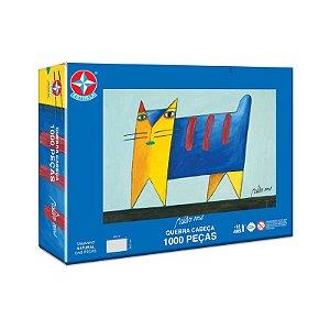 Brinquedo Quebra Cabeça Puzzle Gatos 1000 Peças Gustavo Rosa