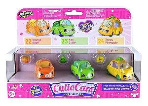 Brinquedo Shopkins Cutie Cars Kit com 3 Aleatorios Dtc 4560