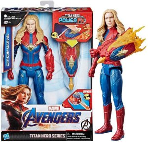 Boneco Capitã Marvel 30 Cm Titan Hero Power Fx Hasbro E3307