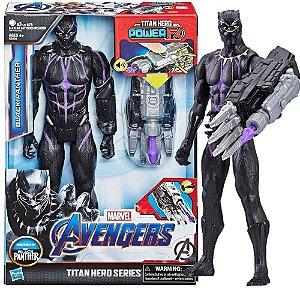 Boneco Pantera Negra 30Cm Titan Hero Power Fx Hasbro E3306