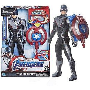 Boneco Capitão América 30Cm Titan Hero Power Fx Hasbro E3301