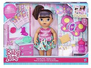 Baby Alive- Boneca Morena Festa Das Borboletas Hasbro B8278