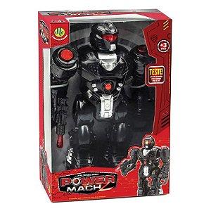 Brinquedo Robo Power Mach Z Preto com Sons e Luzes Dtc 4162