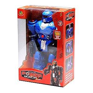 Brinquedo Robo Power Mach Z Azul com Sons e Luzes Dtc 4162
