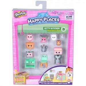 Shopkins Happy Places Kit Decoração Cozinha De Gatinhos Dtc