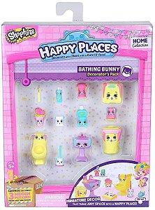 Shopkins Happy Places Kit Decoração Banheiro Coelhinhos Dtc