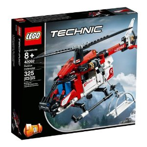 Lego Technic 2 em 1 Helicóptero De Resgate 325 Peças 42092
