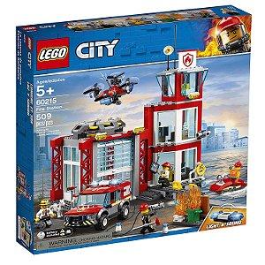 Brinquedo Lego City Quartel Dos Bombeiros 509 Peças 60215
