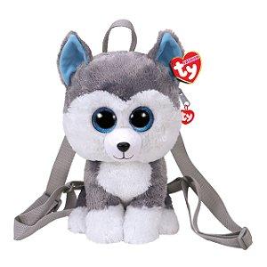 Bolsa Pelucia Mochila Ty Fashion Cachorro Husky Slush 4525