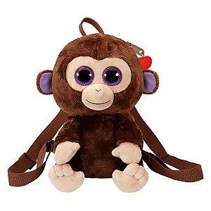 Bolsa de Pelucia Mochila Ty Fashion Macaco Coconut 4526