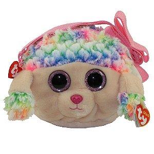 Bolsa Porta Treco de Pelucia Ty Gear Poodle Rainbow 4534