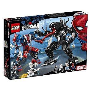 Novo Lego Homem Aranha Robô Aranha vs Venon 604 Pçs 76115