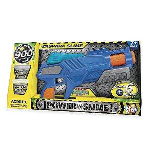 Novo Lançador Pistola Power Slime Azul Acrilex Art Kids 559