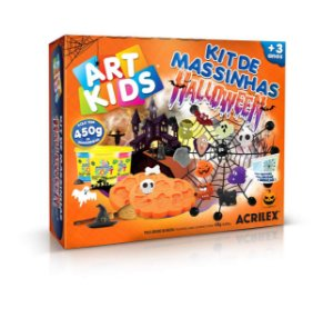 Brinquedo Kit de Massinhas Halloween Art Kids Acrilex 40038