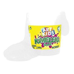 Brinquedo Kimeleka Slime Balde 2,5 Kg Branco Acrilex 05845