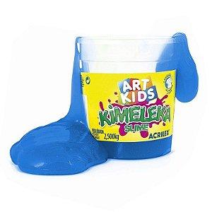 Brinquedo Kimeleka Slime Balde 2,5 Kg Azul Acrilex 05845