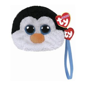 Bolsa Porta Treco de Pelucia Ty Fashion Pinguin Waddles 4573