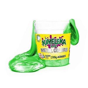 Kimeleka Slime Metalica Balde 2,5 Kg Verde Acrilex 05835