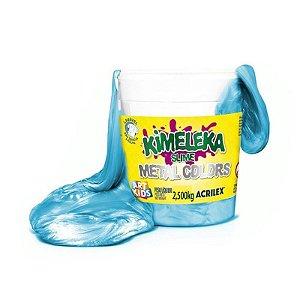 Kimeleka Slime Metalica Balde 2,5 Kg Azul Acrilex 05835