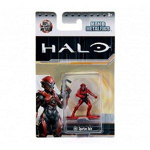 Boneco Colecionável Spartan Vale Ms6 Nano Metalfigs Halo Dtc