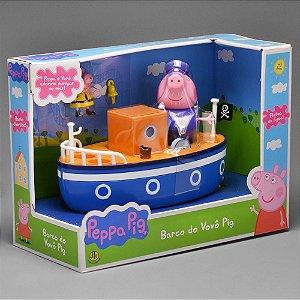 Brinquedo Desenho Peppa Pig Barco Do Vovô Pig Original DTC