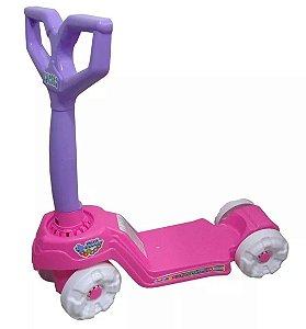 Brinquedo Patinete Infantil Mini Scooty Rosa Calesita 0917