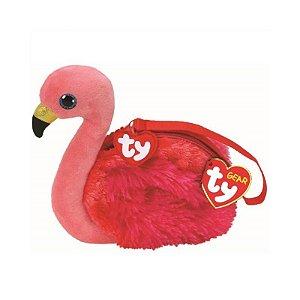 Bolsa Porta Treco de Pelucia Ty Fashion Flamingo Gilda 4728