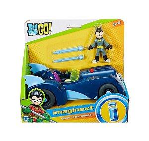 Brinquedo Jovens Titãs Robin e Batmovel Imaginext Dtm82