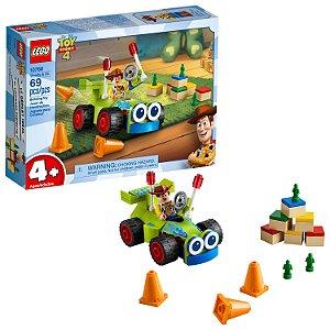 Novo Brinquedo Lego Toy Story 4 Woody e RC 69 peças 10766