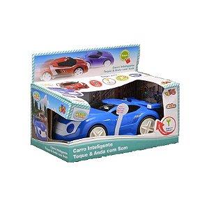 Carro inteligente Azul Toque e Anda Com Som Yes Toys 20027