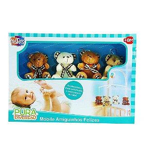Móbile Musical Amiguinhos Felizes Yes Toys 20048