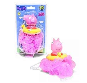 Novo Esponja Rosa Peppa Hora do Banho Peppa Pig Dtc 4697
