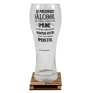 Copo De Vidro Copão de Chope Cerveja Quase Imortal 680ml