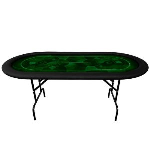 Mesa De Poker Oval 6 Lugares Profissional Copag 180x90cm