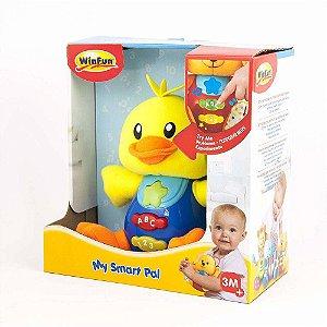 Brinquedo De Pelúcia Meu Amigo Sabichão Patinho WinFun 0636