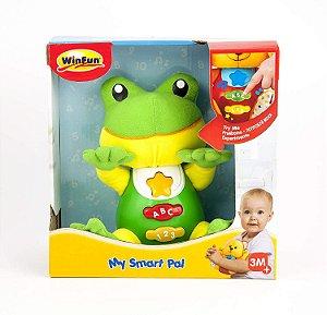 Brinquedo De Pelúcia Meu Amigo Sabichão Sapinho WinFun 0635