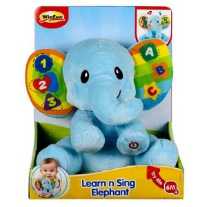 Pelúcia Elefante Dance Comigo Com Som e Luzes WinFun 0695