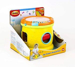 Brinquedo Tambor ABC Musical Do Bebê Com Som e Luzes WinFun
