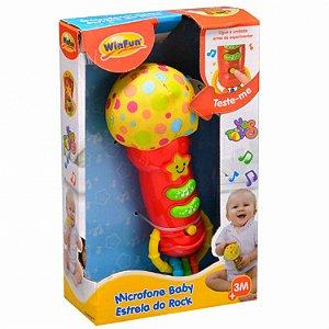 Brinquedo Microfone Baby Estrela Do Rock WinFun 0722